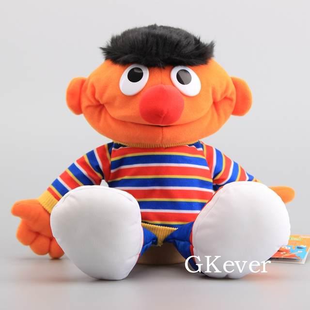Us 10 1 6 Off 7 Characters Sesame Street Hand Puppet Plush Toys Elmo Cookie Monster Ernie Big Bird Grover Children Soft Stuffed Dolls 21 40 Cm In