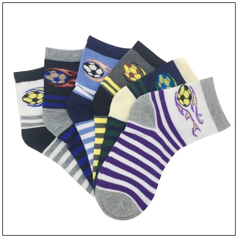5 Paare/los Frühling & Herbst Neue Kinder Socken Baumwolle Komfortable Casual Teenager Fußball Muster Socken 7-10 Jahre Jungen Socken