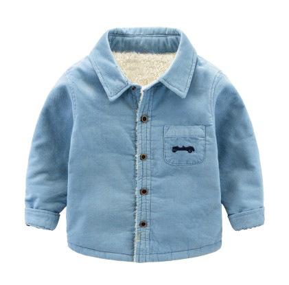 54d78973a687 Baby Boys Long Sleeve Fleece Shirt 1 6 Age Infant Boy Thick Shirt ...