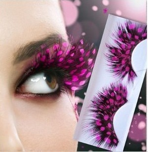 1Pair Rose Dot False Eyelashes High Quality Natural Feather Fake Eyelashes Colorful Eye Lashes Fashion Eyelash Extensions Makeup