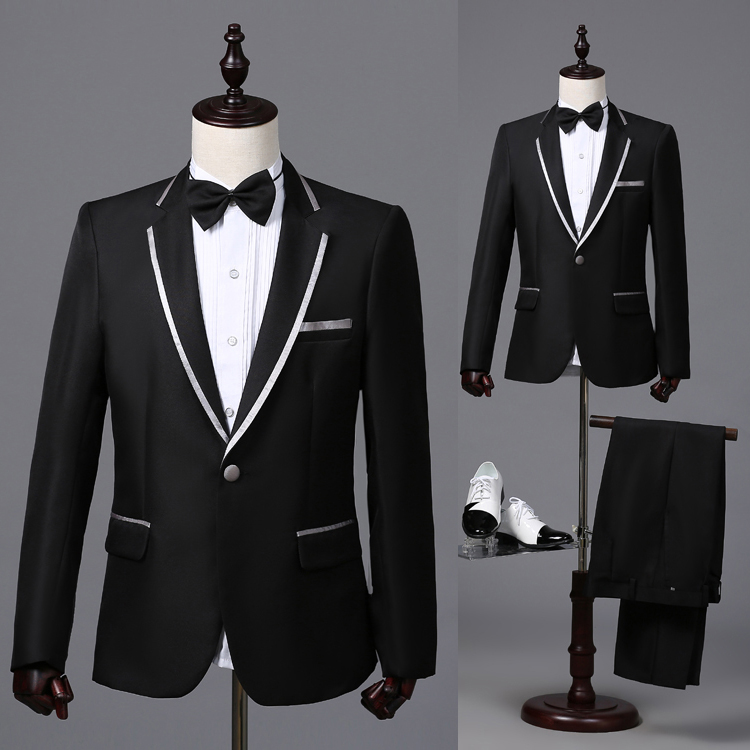 New latest coat pant designs Black Trim Mens show Costume ...
