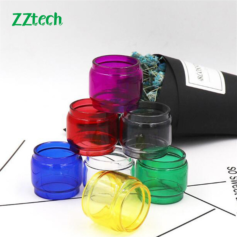 1pc/2pcs/3pcs Multi-Color E-Cigarrete Vape Fatboy <font><b>Bulb</b></font> Version Pyrex <font><b>Glass</b></font> Tube Replacement For SMOK <font><b>TFV12</b></font> <font><b>Prince</b></font> Tank image
