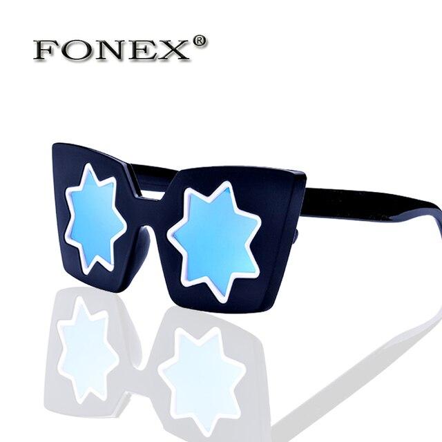 FONEX Женская мода и личность cat глаз Солнцезащитные Очки Линда дома карла модные солнцезащитные очки большие солнцезащитные очки 1635 звезды