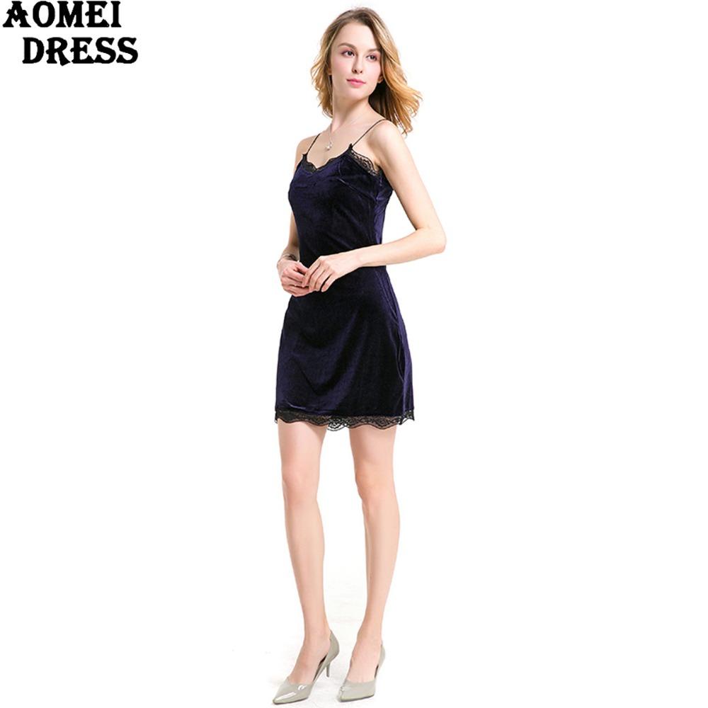 HTB1JXWBPpXXXXckaXXXq6xXFXXXC - FREE SHIPPING Women New Sexy Velour Dress With Lace Sphagetti Robes JKP259