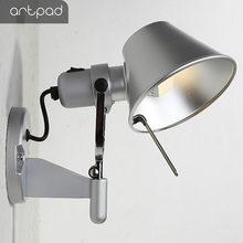 Artpad скандинавский алюминиевый серебристый черный прикроватный