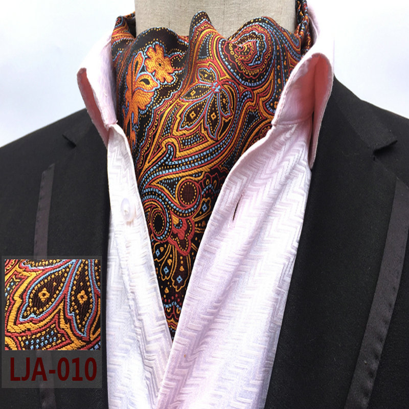 20 Style 2018 Fashion Luxury Polyester Silk Printed Men Scarf Polka Dot Scarves Suit England Jacquard Weave Ties Paisley Wedding