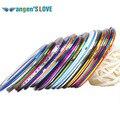 50 шт./лот 14 Цветов Rolls Чередование Ленты Линия Nail Art Наклейки Инструменты Красоты Украшения для на Ногти Наклейки