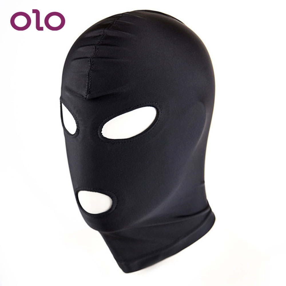 OLO Slave Sex Toys For Couple SM Bondage Erotic Toys 1 Piece Sex Headgear Adult Games Sexy Head Mask Restraint Hood Mask