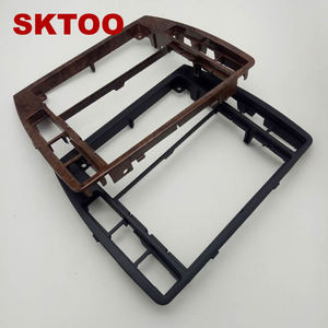 Image 5 - SKTOOFor VW PassatB5 Middle Escutcheon Center Decorative Box Dashboard Console Panel CD Recorder Frame Radio Face Trim 3B0858069