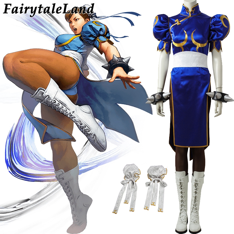 Street Fighter 5 Chun Li Cosplay Costume Carnival Halloween Costume Hot game Chun Li Dress custom made sexy costume suit