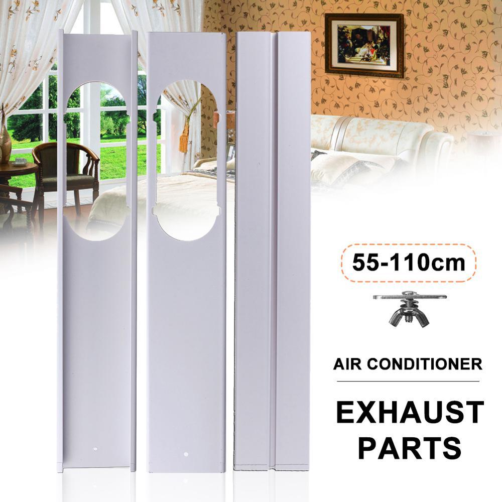 2Pcs 55-110cm Adjustable Window Slide Kit Plate For Portable Air Conditioner For Portable Air Conditioner Accessories Set
