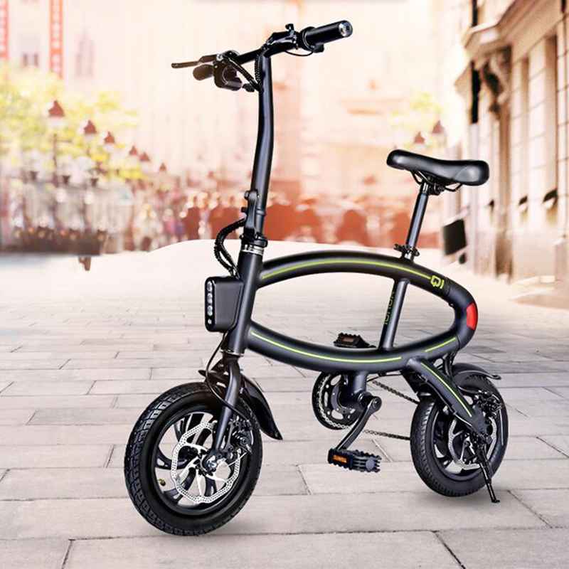 2017 Mini e bike 14 inch Aluminum font b Folding b font Electric Bike 250W Motor