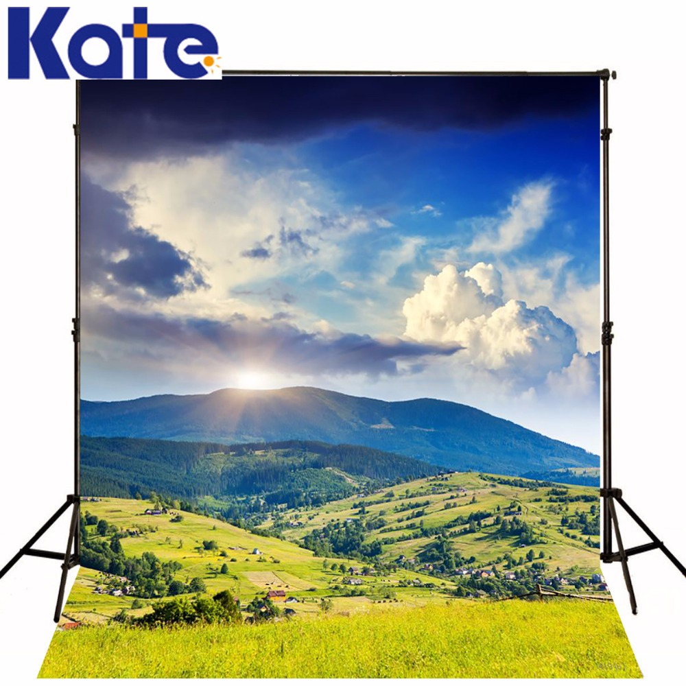 KATE 5X7FT Children Backdrop Blue Sky Cloud and Grass Backgrounds Scenic Photo Backdrops Forest Background for Photocall Wedding bim and the cloud