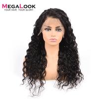 Megalook бразильская холодная завивка 360 Синтетические волосы на кружеве al парик 180% Плотность парики Remy Синтетические волосы на кружеве предва
