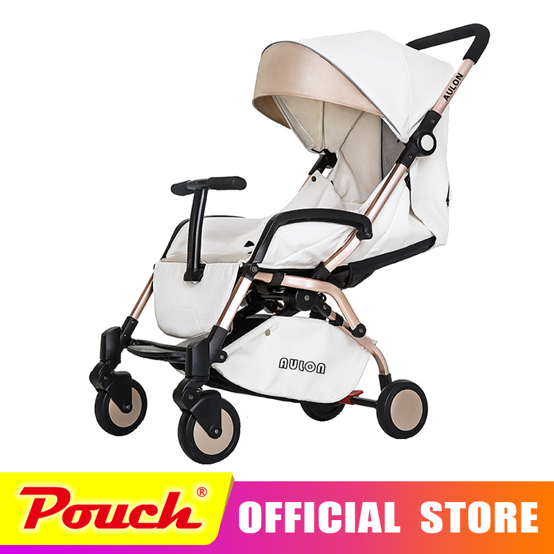 AULON baby stroller light umbrella car four rounds of shock folding can lie down baby stroller Oyun Long baby stroller ultra light portable shock absorbers bb child summer baby hadnd car umbrella