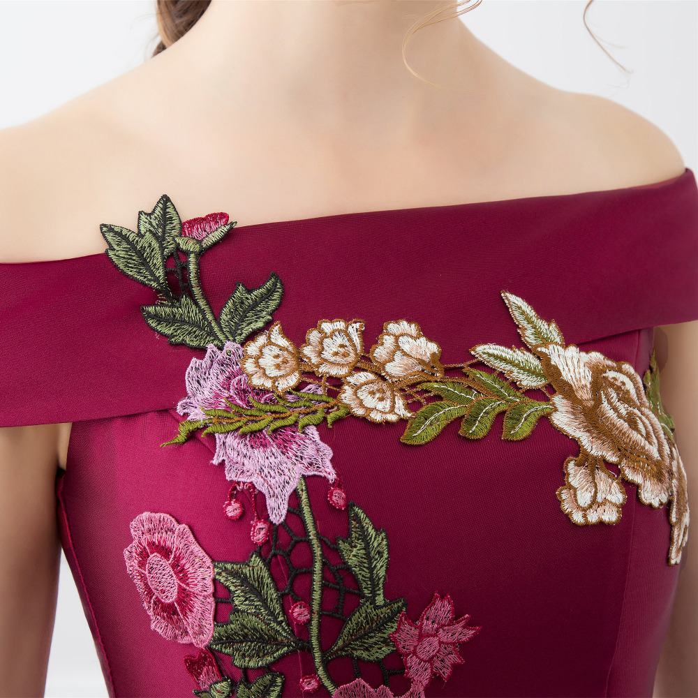 0253fd267fa High Quality Prom Dresses Fashion Summer Satin With Big Flowers A line Prom  Dress Boat Neck Prom Dresses 2019 Vestido De Festa-in Prom Dresses from  Weddings ...