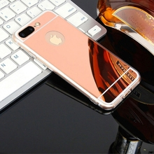 Luxury Rose gold Luxury Mirror Flash Fashion Case For iPhone 7 6 6S Plus 5s SE Soft Clear TPU Cover For iPhone 6 7 6S 5S