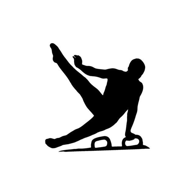 11412cm the menu0027s gymnastics vault personalized car stickers vinyl decorative accessories c7 vault gymnastics silhouette m73 silhouette