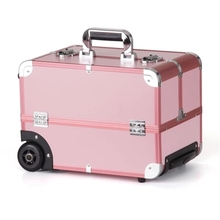 Professional rods Cosmetic case can be hand-held large-capacity multi-layer with makeup embroidery box цена и фото