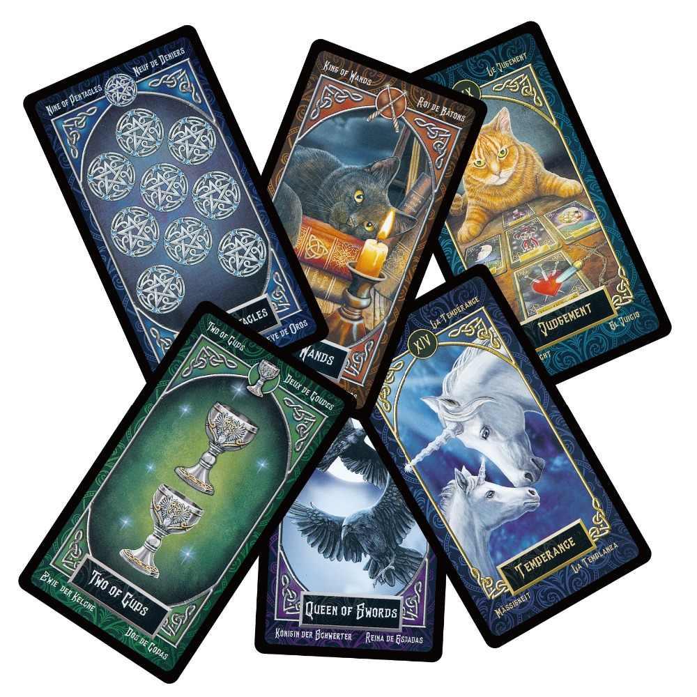 2018 nouvelles cartes de tarot intimes ponts anglais espagnol français allemand version animal magique divination carte pour filles jeu de société