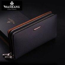 2017 neue Männer Leder kupplungen hochwertige echte rindsleder luxus leder Luxus marke clips für geld designer MBS8390
