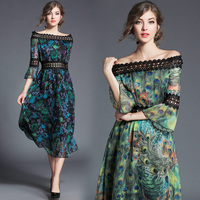 The Spring And Autumn Period And The New Europe Will Spot Mulberry Silk Printed Fashion Lace