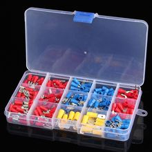 280Pcs Assorted Insulated Spade Crimp Terminal Electrical Wire Connector Set Red Blue Yellow  цена и фото