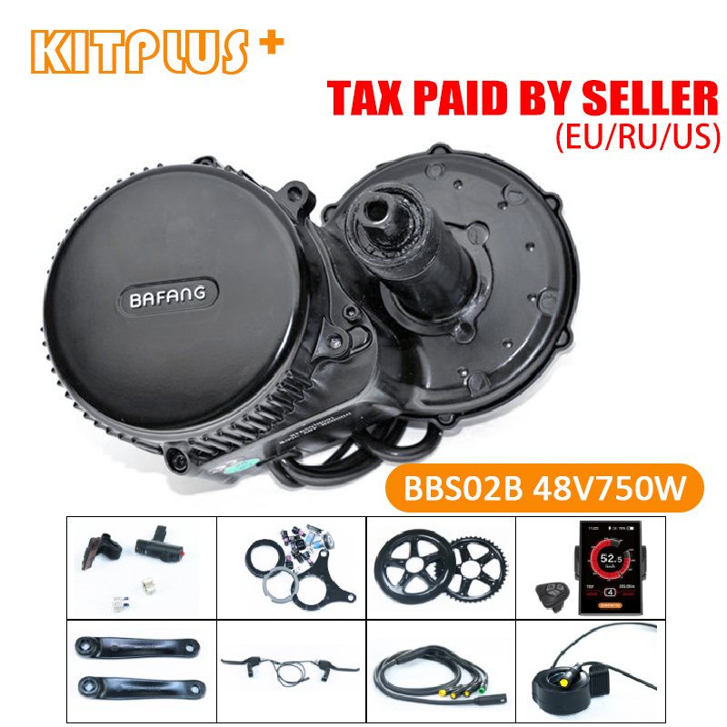 Bafang 8Fun BBS02 48V750W Ebike Mid Motor Ebike Kit Brushless Electric Motor Bike Kit for E