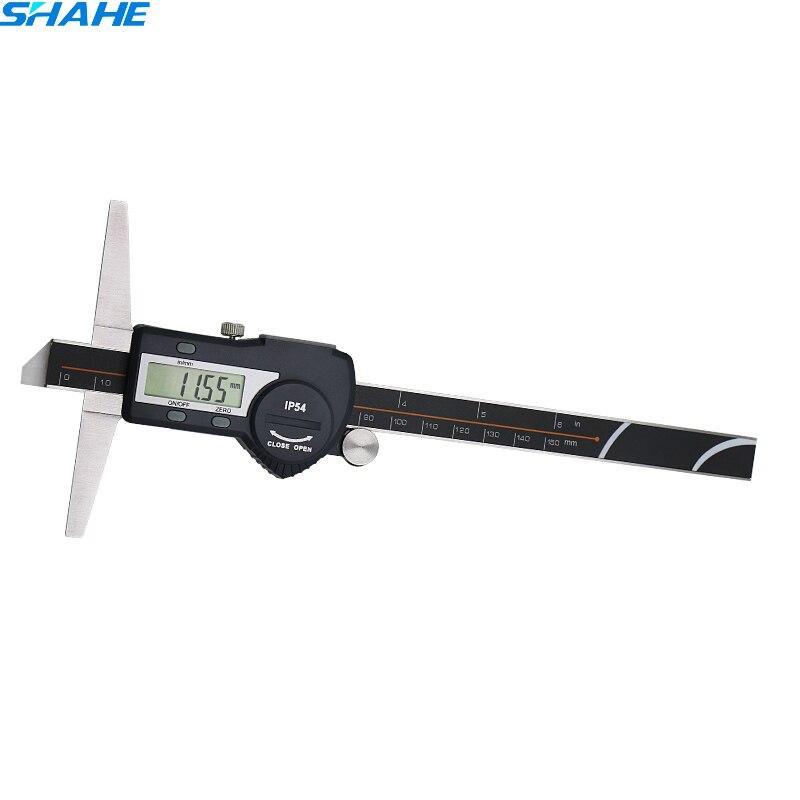 150mm 6inch Stainless Steel Digital Depth Vernier Caliper depth gauge caliper micrometro depth caliper digital caliper