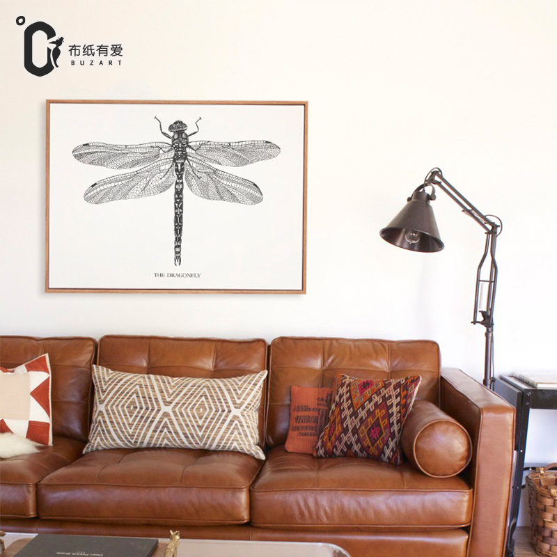 Home Goods Artwork: Dragonfly Modern Painting Canvas Painting And Home Goods
