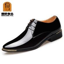 2020 Nieuw Mannen Kwaliteit Lakleer Schoenen Witte Bruiloft Schoenen Maat 38 48 Black Leather Soft Man Jurk schoenen