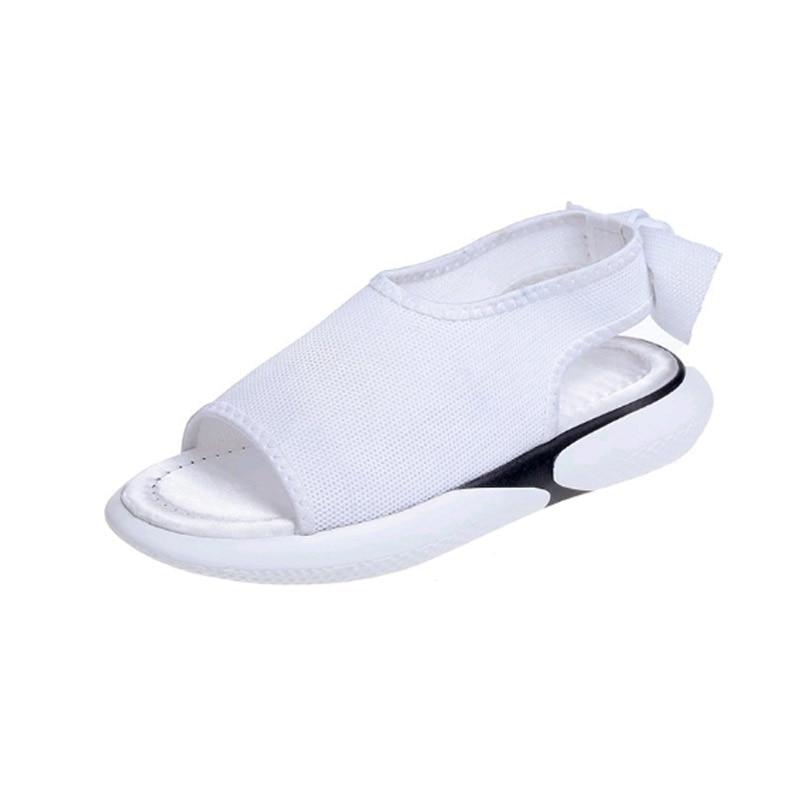 Naujas modelis moterų batų vasaros Flat dugnas Šimtas ir aukštyn - Moteriški batai
