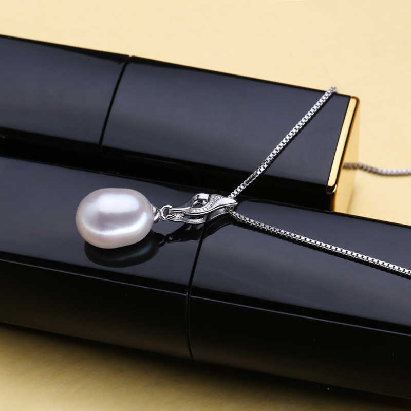 FENASY Trendy Nice Natural Pearl Jewelry Sets 925 Sterling Silver Pendant Necklace Pearl  Earrings Fashion Jewelry Wedding