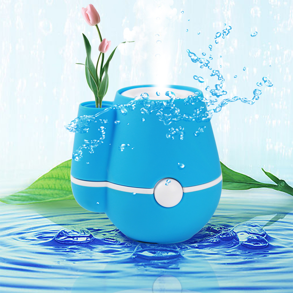 New Vase Humidifier Ultrasonic Aroma USB Mini Air Purifier Freshener Atomizer essential diffuser difusor de For Office/Home/Car 5v led lighting usb mini air humidifier 250ml bottle included air diffuser purifier atomizer for desktop car