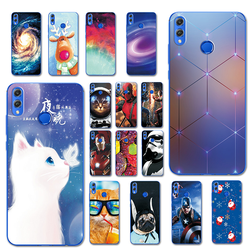 For Huawei Honor 8X Phone Case Coque Honor 8 X Honor8X 6.5'' Brilliant Cover Fundas For Huawei Honor 8X Silicone Pet Cat Bumper