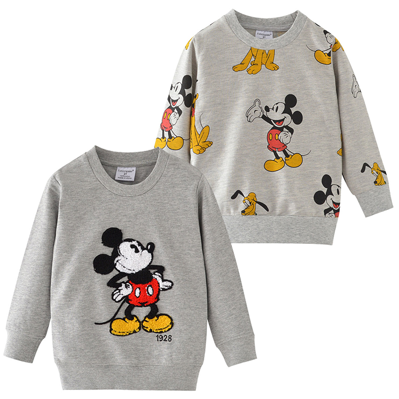T-Shirts Kids Tops Sweater Clothing Long-Sleeve Mickey-Pattern Baby Boys Children Cartoon