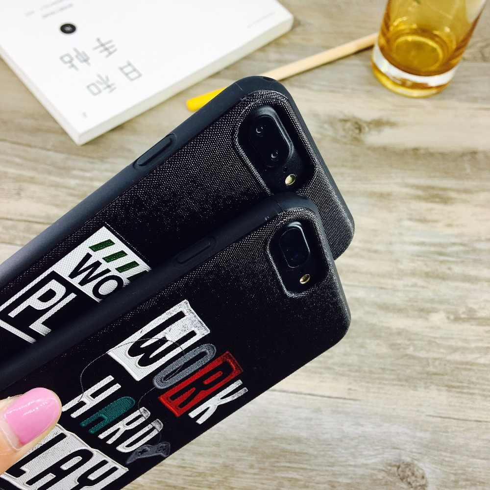6538ff3c5da90a ... Relief English Letter Phone Case for Apple iPhone XS Max Soft TPU Lanyard  Hand Rope Cover ...