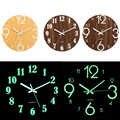 デジタルナンバーウォールクロック DIY 3D サイレント時計グロウダークアクリル発光掛時計アクリル簡単な静音 DIY 壁時計現代