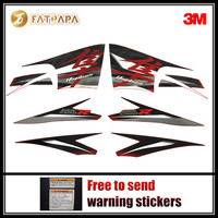 motorcycle Fairing Fuel tank Body stickers FOR SUZUKI Hayabusa GSXR1300R 2013 Black and red