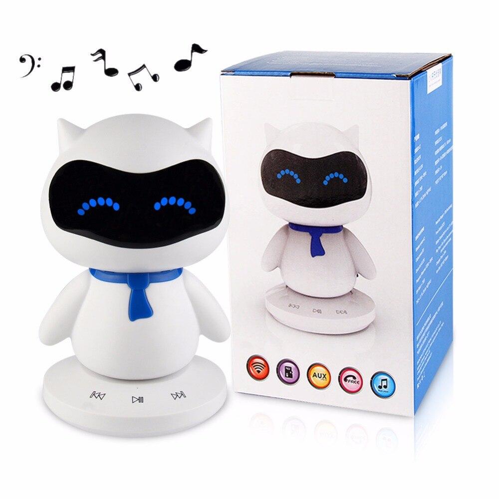 Solo vendemos a Rusia y EE. UU. (valores locales). Mini portátil lindo Robot inteligente columna Altavoz Bluetooth con llamadas manos libres TF MP3