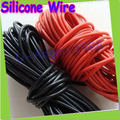 Free shipping + 10meter/lot High Quality wire silicone 10 12 14 16 18 20 22 24 26 AWG red and black