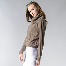 Women Sweater 2019 Spring Summer New Fashion Solid Color High Collar Leisure Upper Outer Garment Beach Trend Long Sleeve