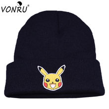 New Fashion Cartoon Go Beanies Winter Warm Knitted Animal Hats for Women Men Autumn Cute Bonnet Gorros Hot Skullies(China)