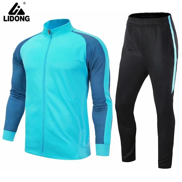 Mens soccer jerseys 2018 2019 soccer tracksuit survetement football jerseys  training football shirt pants adult football kits a40dc584b