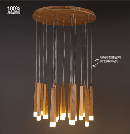Solid Wooden led pendant lights creative restaurant living room bar long stick match decorations lighting pendant lamps MZ126|pendant lamp|led pendant light|pendant lights - title=