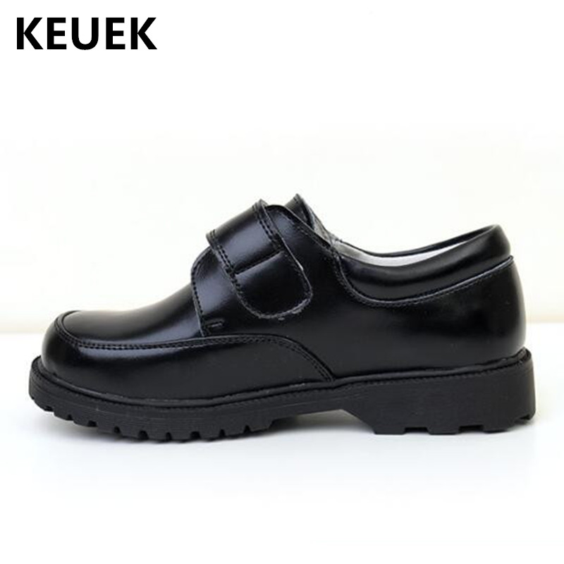 New Children Leather Shoes Boys Black