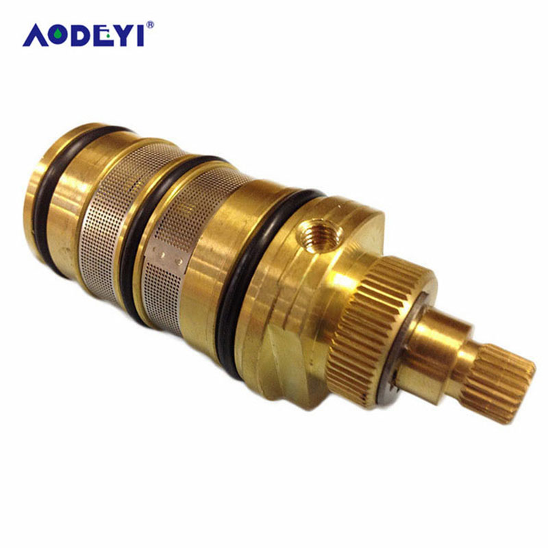 thermostatic faucet cartridge for bathroom faucet mixer tap shower mixing valve shower thermostatic cartridge AODEYI Thermostatic Valve Spool Copper Faucet Cartridge Bath Mixer Tap Shower Mixing Valve Adjust The Mixing Water Temperature