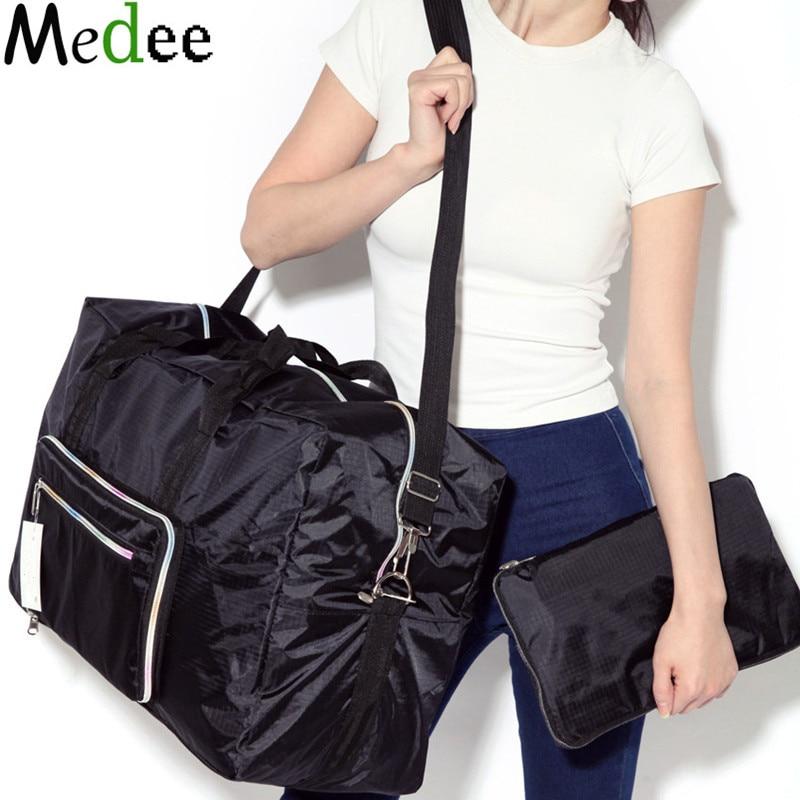26975ce31829 Топ Новинка 2019 года черный водостойкий Оксфорд складная сумка автомобиль  Duffle для женщин Дорожные сумки Организатор bolsa Malas De Viagem TRA013