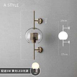 Image 5 - Aplique de pared estilo Industrial Retro, Vintage, creativo, conciso, de cristal, para cocina, restaurante, Loft, aplique de pared Led, envío gratis