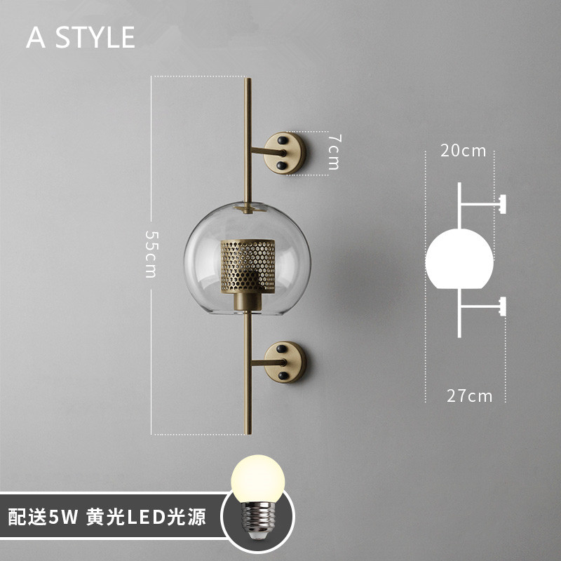 Image 5 - Industrial Style Retro Wall Light Vintage Creative Concise Glass Light Kitchen Restaurant Loft Led Wall Sconce Free Shipping-in LED Indoor Wall Lamps from Lights & Lighting
